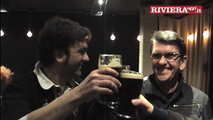 Mike Joyce degli Smiths assieme a Paolo Forlì