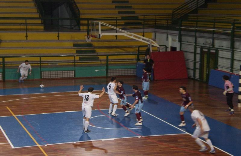 Fase di gioco della Futsal Samb contro Rieti