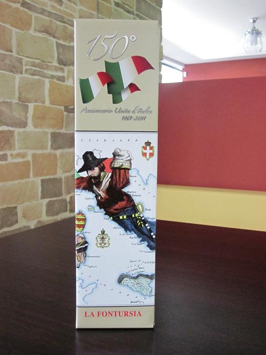 Packaging della nuova bottiglia della cantina Fontursia