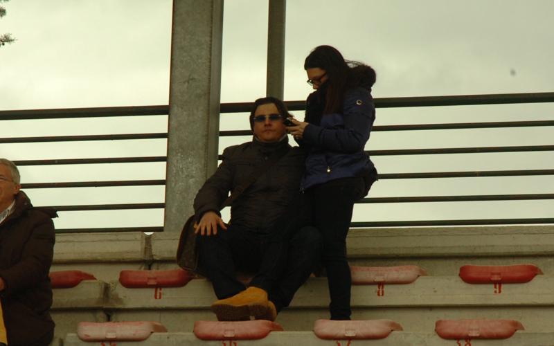 Spina con moglie a Bojano (ph. Troiani)