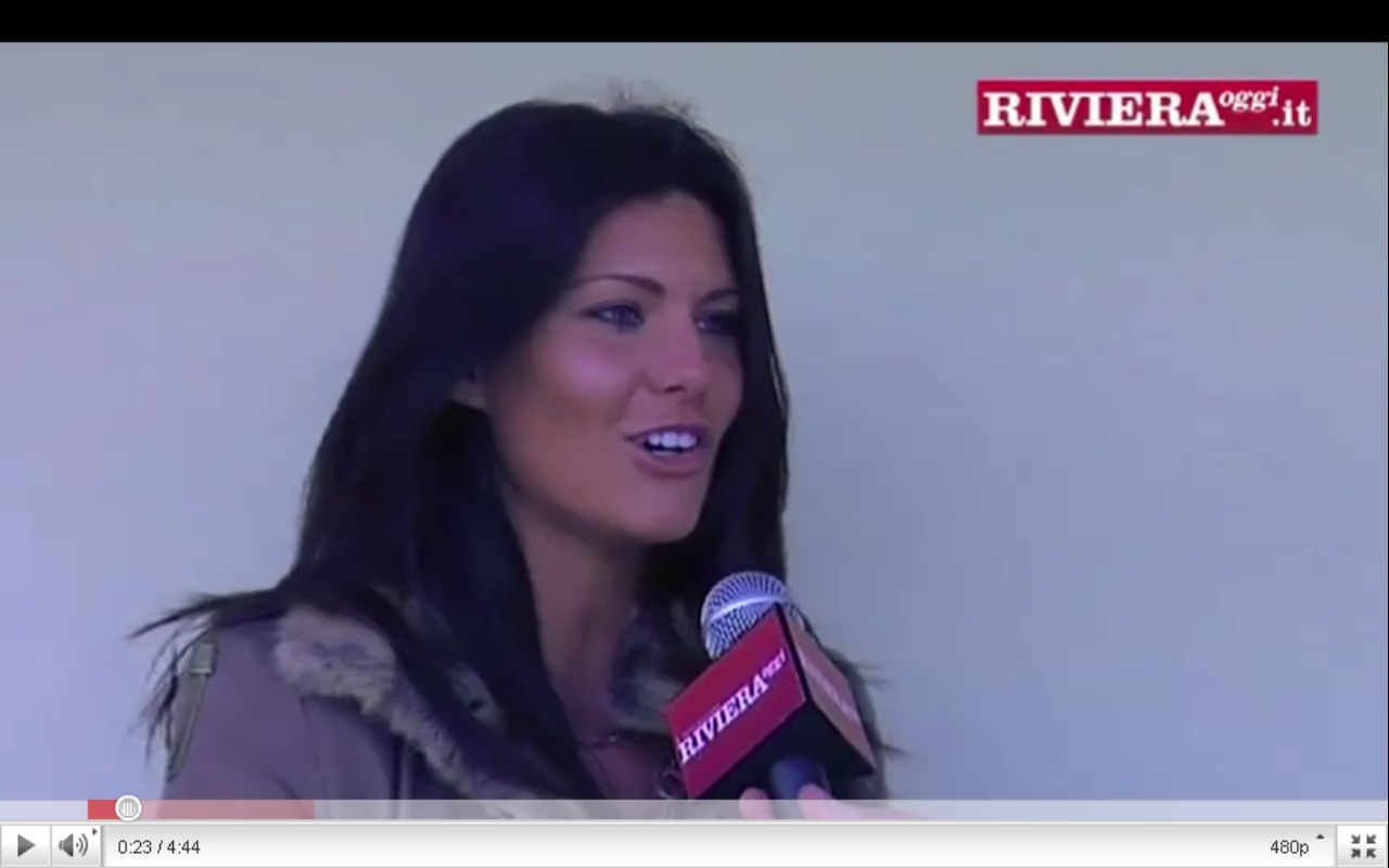 Barbara Pedrotti in un frame dell'intervista video di RivieraOggi.it
