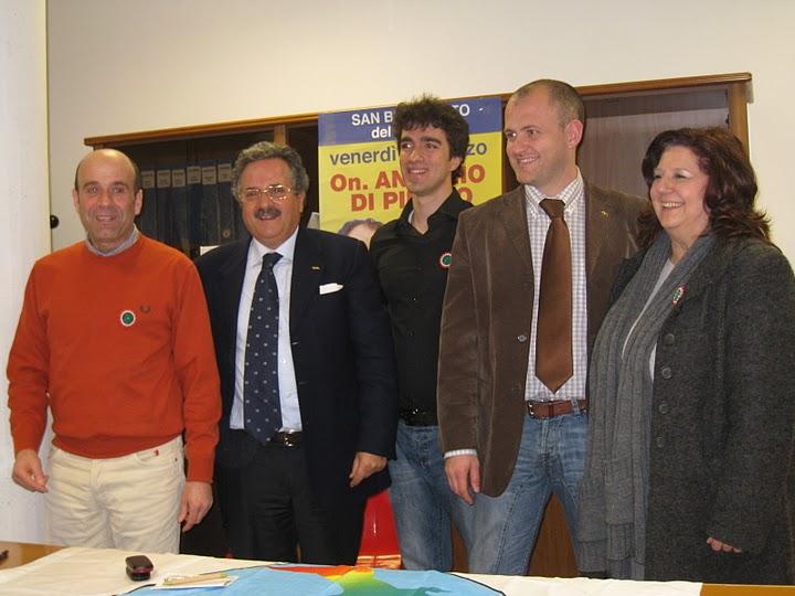 Da sinistra: Eldo Fanini, Dante Merlonghi, Alessandro Marini, Andrea Cardilli, Palma del Zompo