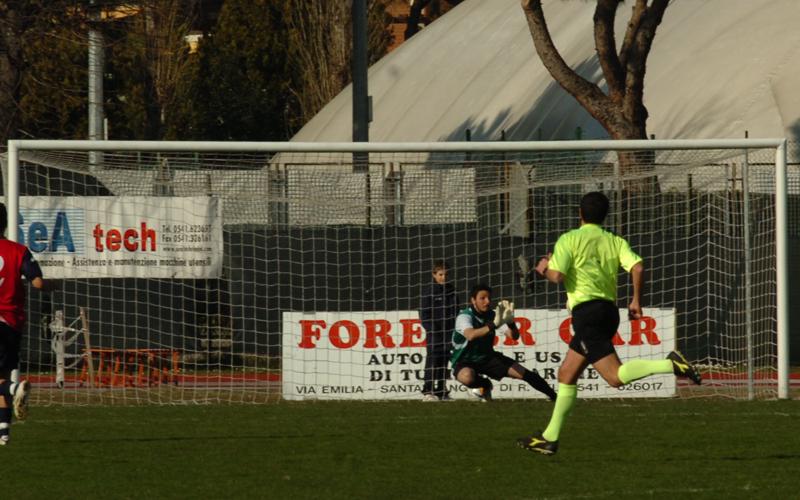 Il secondo gol di Radoi del Santarcangelo, Chessari incerto (Troiani)