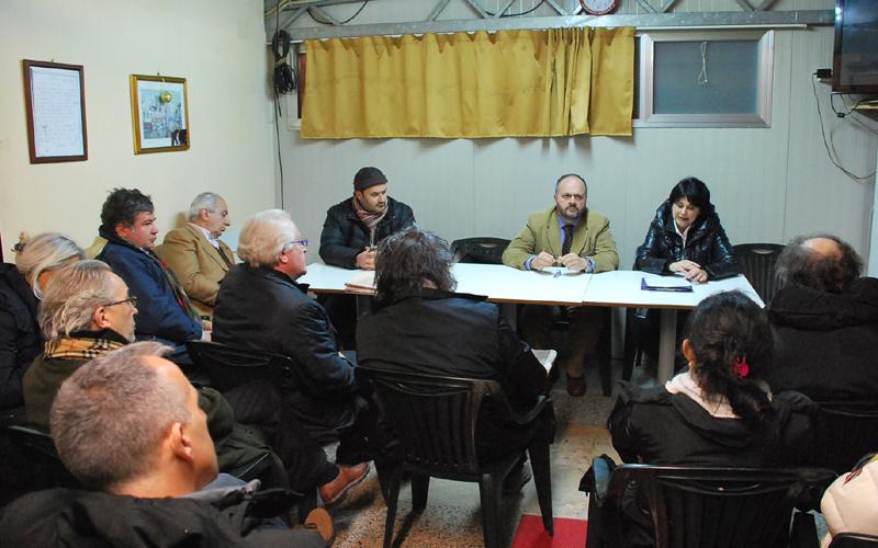 Giovanni Gaspari con il consigliere Pasqualini incontra gli industriali della zona Agraria