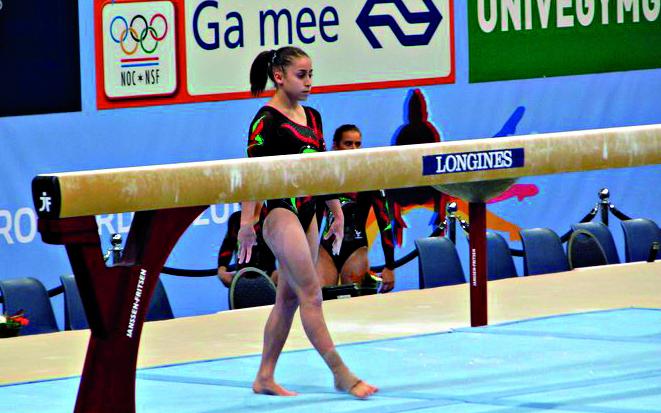 Jessica Mattoni in una prova della Nazionale Azzurra