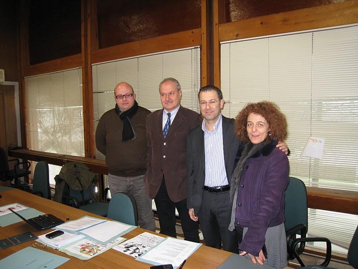 Da sinistra: Alessandro Lucciarini De Vincenzi, Remo Bruni, Paolo D'Erasmo, Tiziana Maffei