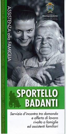 Sportello Badanti a Monteprandone, brochure