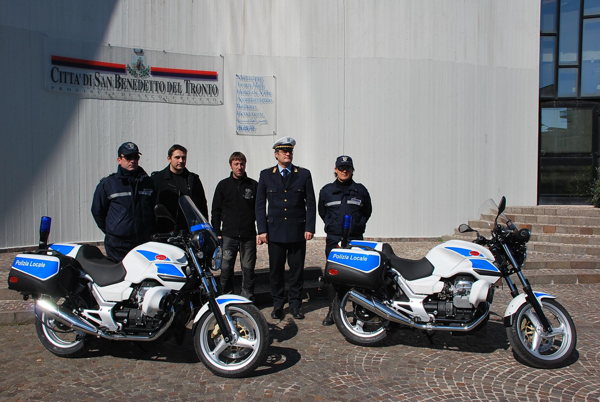 Moto della Polizia Municipale