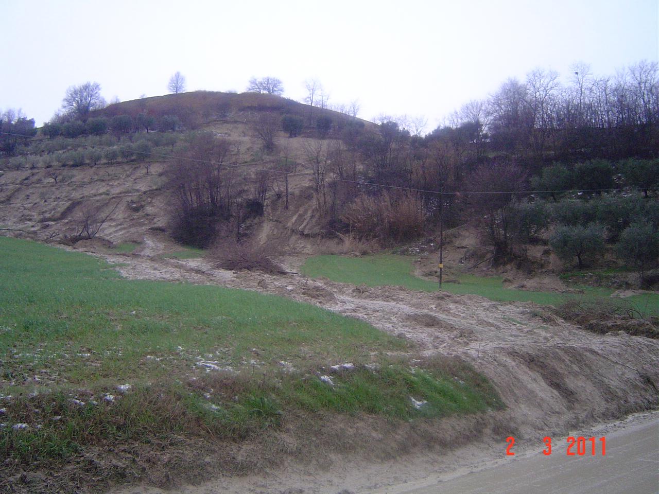 Maltempo, i terreni colpiti