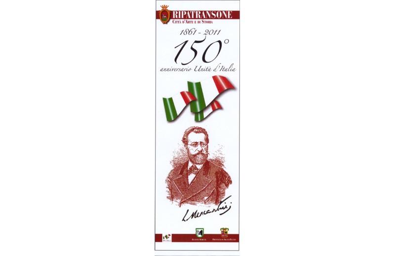 Ripatransone: locandina dei festeggiamenti per i 150 anni dell'Unità d'Italia