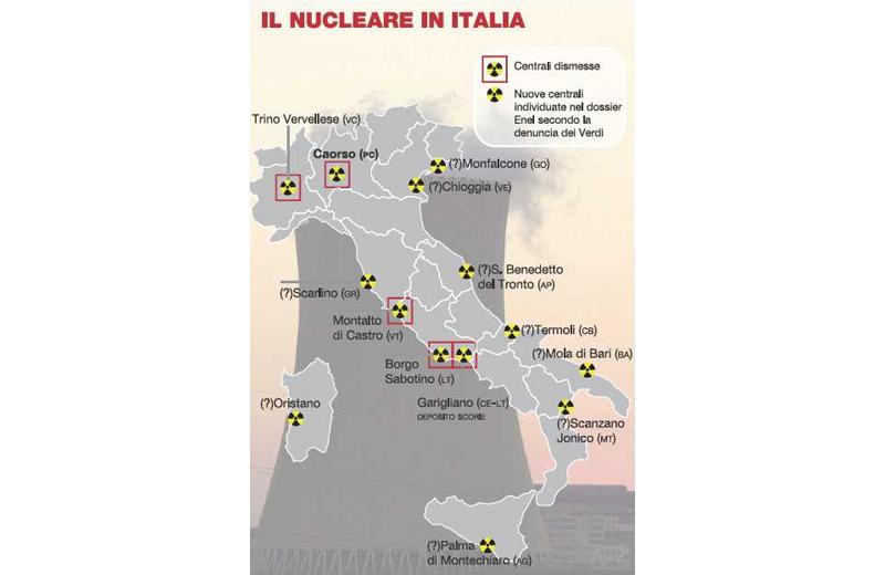 San Benedetto nell'elenco delle centrali nucleari de