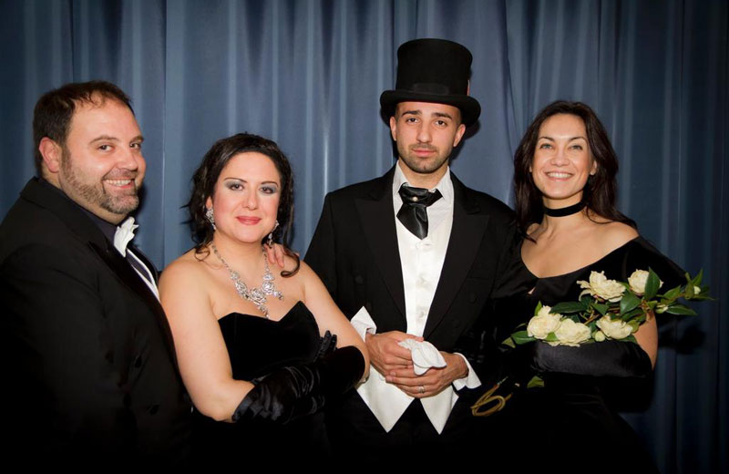 I protagonisti dello spettacolo: Nunzio Fazzini tenore, Patrizia Perozzi soprano, Nicola Ziccardi baritono, Cecilia Raponi attrice.