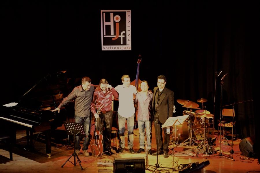 Da sinistra: Stefano Travaglini, Roland Balogh, Giacomo Dominici, Israel Varela, Manuel Trabucco