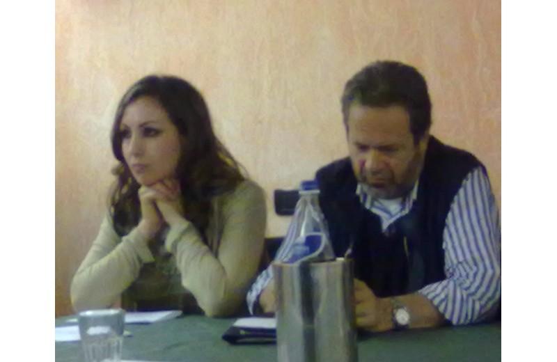 Domenico Martinelli con Erika Basili, capolista di