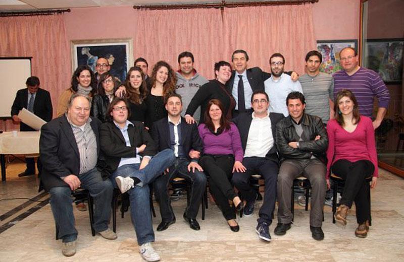 Il Comitato Colonnella 2020 con Marco Iustini e Augusto Di Stanislao