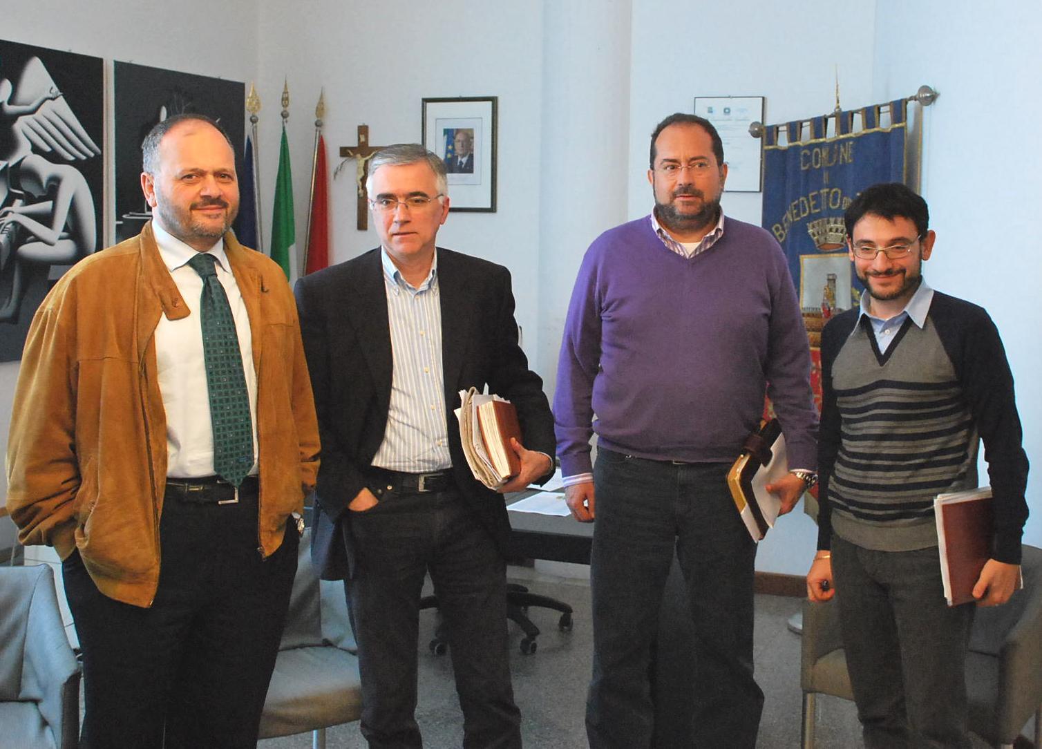 Gaspari con Canzian, Polidori e Cicchi