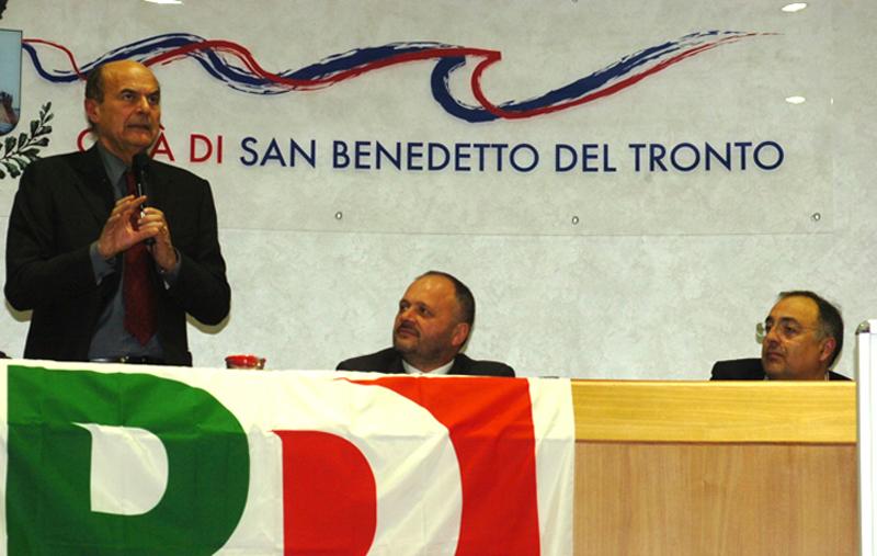 Bersani con Gaspari e Agostini