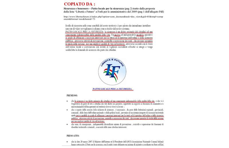 Il confronto tra il programma elettorale di Insieme per Colonnella e altre fonti