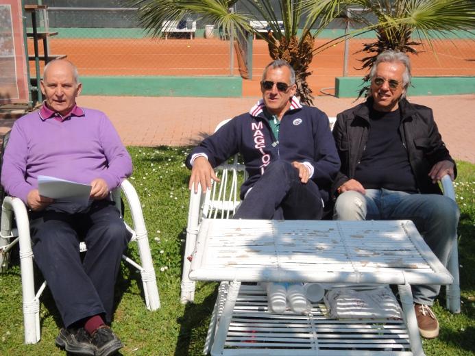 Da sinistra, Mimmo Minuto con Afro Zoboletti e Patrizio Patrizi