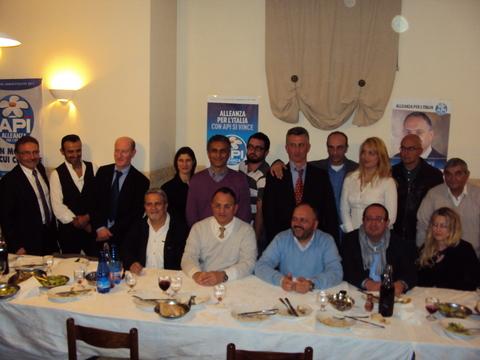 I candidati dell'Alleanza per l'Italia alle ultime elezioni amministrative (foto d'archivio)