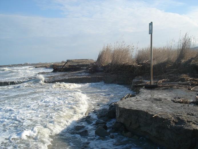 L'erosione costiera lungo il litorale della Riserva Sentina