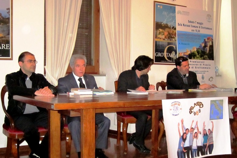Da sinistra: Danilo Gabrielli, Giovanni Di Grolamo, Enrico Piergallini, Giuseppe Gabrielli