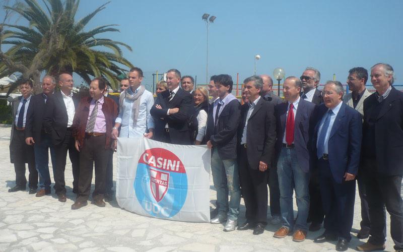 I candidati dell'Udc con Calvaresi e Ciccanti