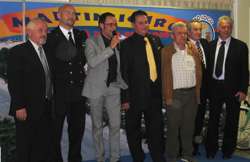 I rappresentanti della marineria premiati dalla Pro Loco