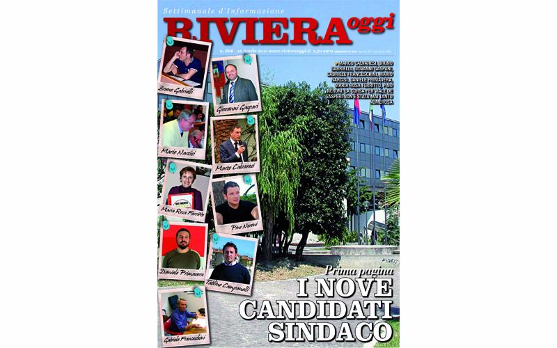 La copertina di Riviera Oggi numero 866 dedicata alle elezioni