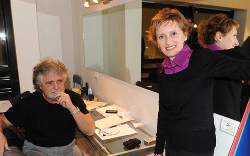 Maria Rosa Ferritto con Beppe Grillo