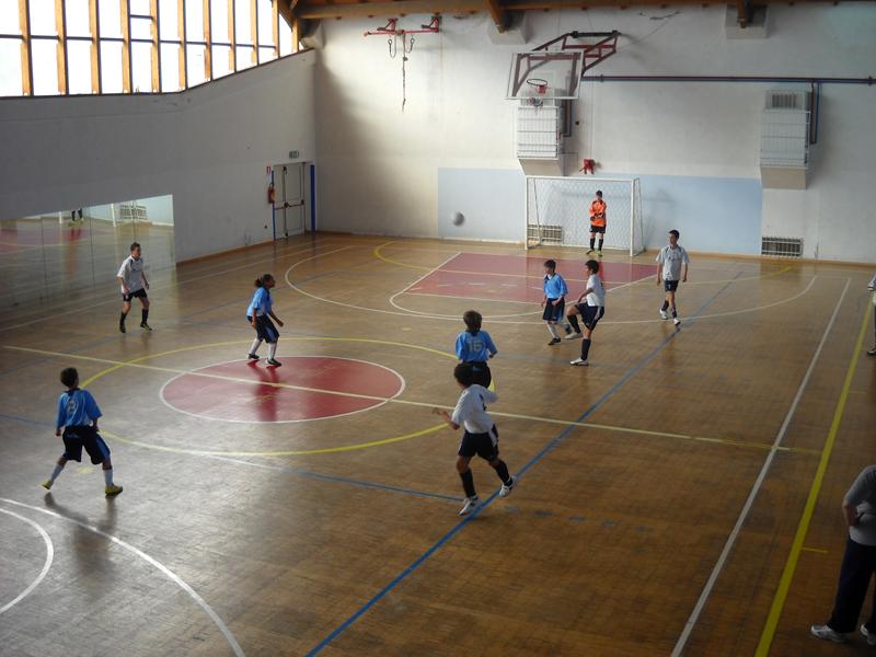 Una fase di gioco di Gagliarda - Energie Animation B under 14 di calcio a 5