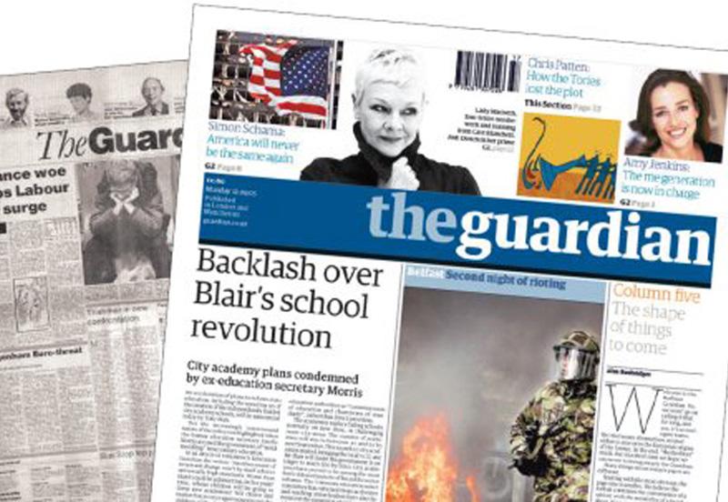 The Guardian, uno dei più diffusi giormali inglesi