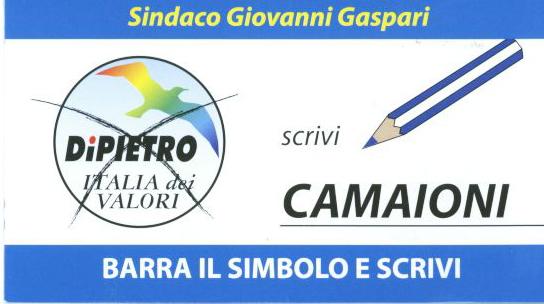 Come votare il candidato Stefano Camaioni