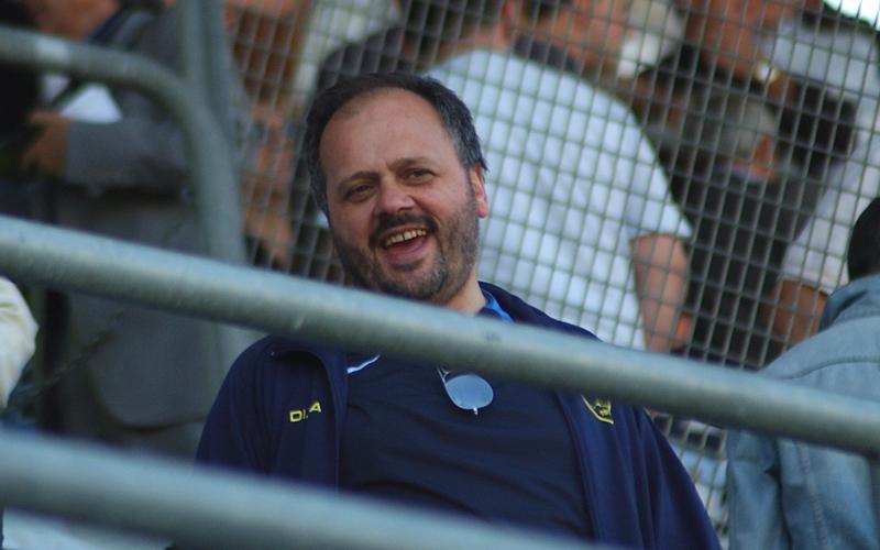 Giovanni Gaspari allo stadio (foto d'archivio, Troiani)