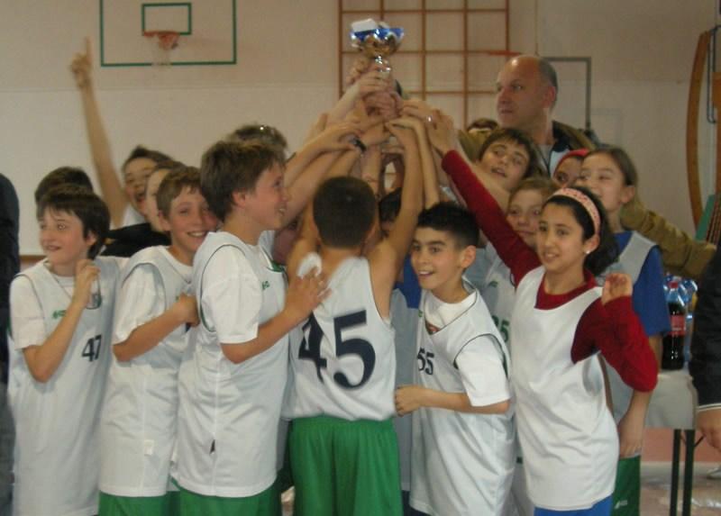 Cupra Marittima, terza classificata al torneo Mini Basket