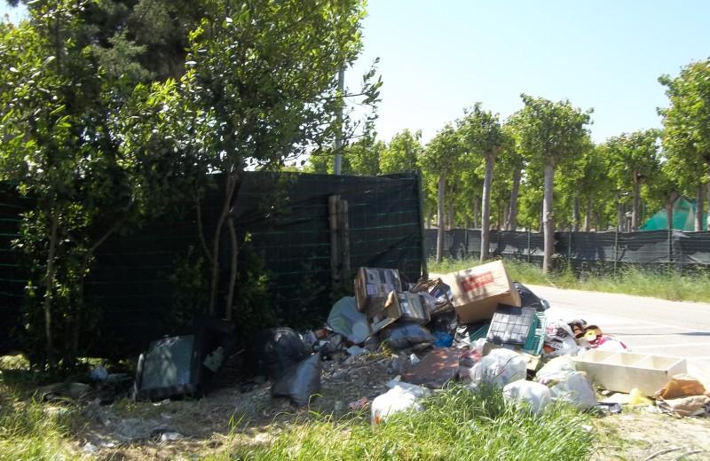 La discarica abusiva in Via Rodi (2)