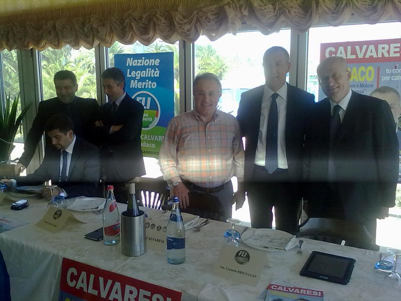 Carmelo Briguglio, primo da destra, con Marco Calvaresi, Amedeo Ciccanti, Daniele Gibellieri, Benito Rossi, Daniele Silvetti