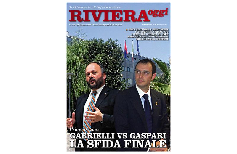 La copertina del settimanale Riviera Oggi attualmente in edicola nella settimana pre ballottaggio