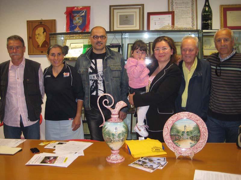 Francesco Bruni, Marina Pignotti, Carlo Sebastiani, Barbara Burrasca, la piccola mascotte Emma, Giovanni Battista Burrasca, Giuseppe Coretti