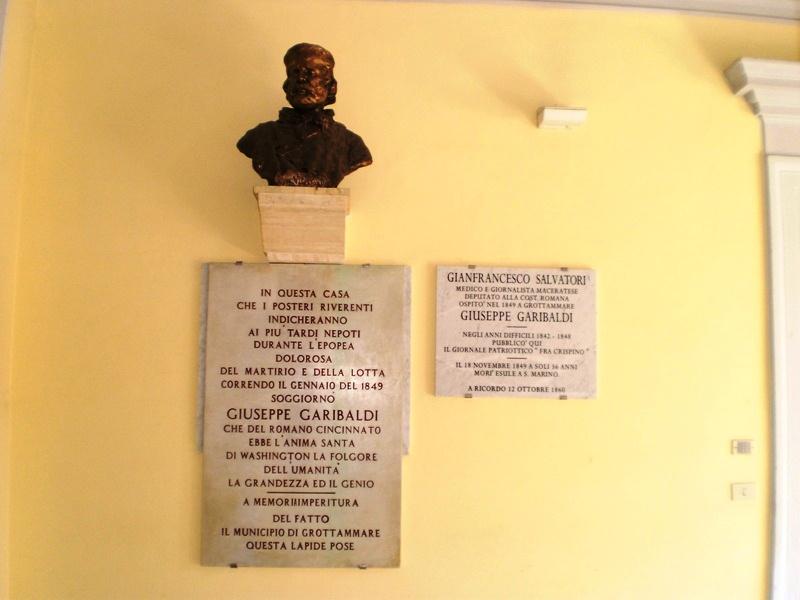 Busto di Garibaldi, Grottammare