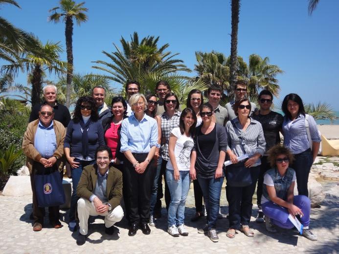 Gli studenti dell'Università Politecnica delle Marche. Al centro Margherita Sorge