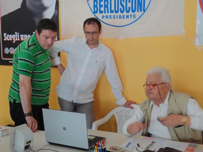 Bruno Gabrielli nella sede Pdl di via Sauro alle 15.40