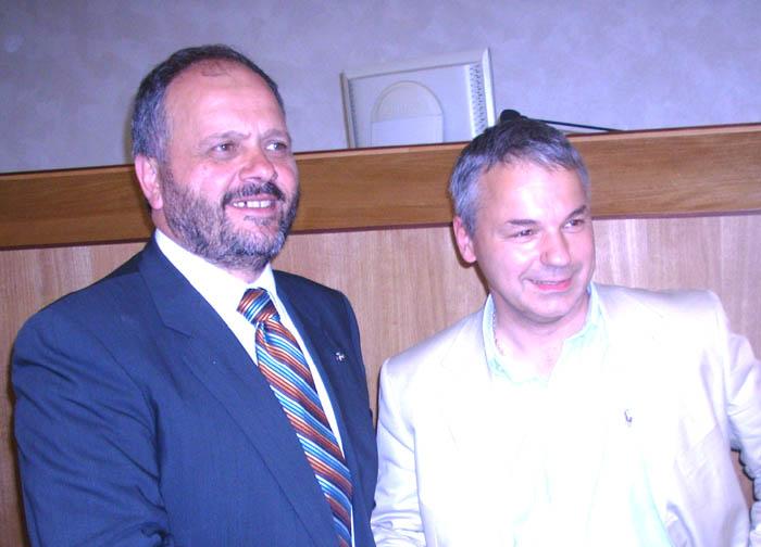 Gaspari con l'europarlamentare Rinaldi