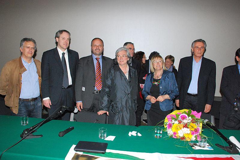 Rosi Bindi mercoledì sera al PalaRiviera con il sindaco Gaspari e altri esponenti del Pd locale