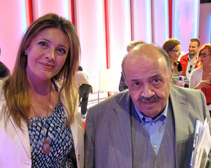 Raffaella Milandri con Maurizio Costanzo