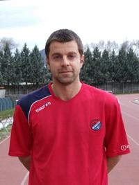 Il centrocampista della Fortitudo Fabriano Simone Bellagamba autore del gol partita