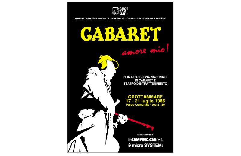 Manifesto Cabaret1985 (Disegnato da Michele Rossi)