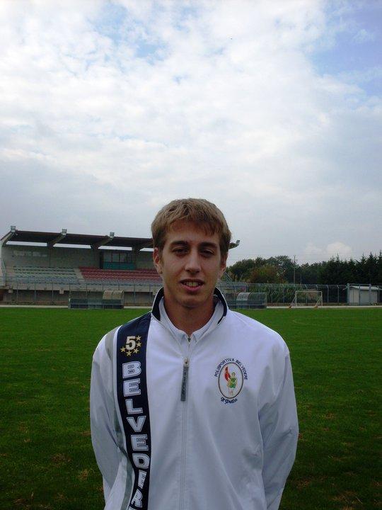 Nicola Cardinali, centrocampista della Belvederese