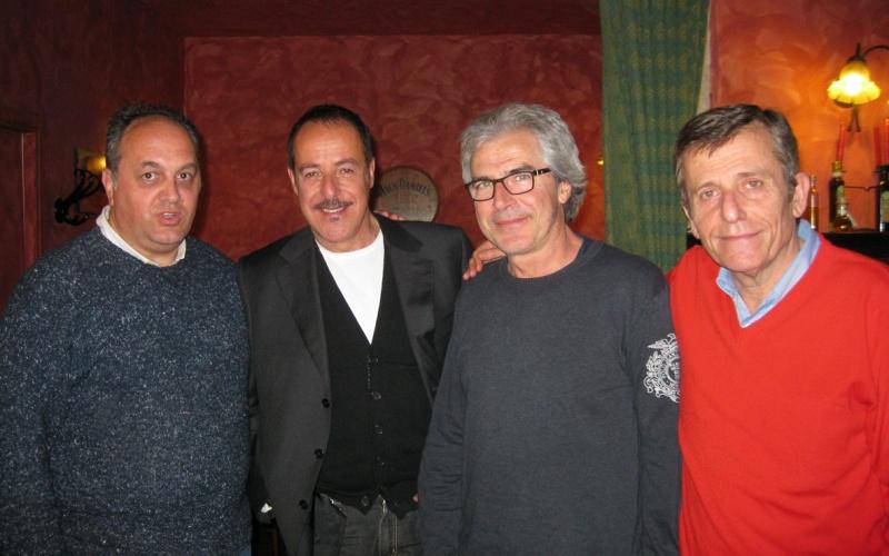 Michele Rossi con Massimo Lopez, Tullio Solenghi e Maurizio Micheli