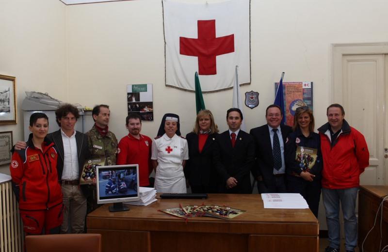 I vertici della Croce Rossa della provincia di Teramo